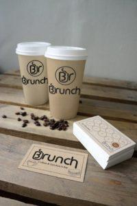 Розробка логотипу, виготовлення візиток, та стаканчиків під каву. Кав'ярня BRUNCH, м.Івано-Франківськ
